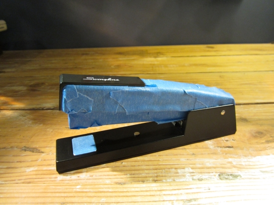 taped stapler